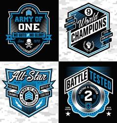 Sports crest emblem set vector image vector image