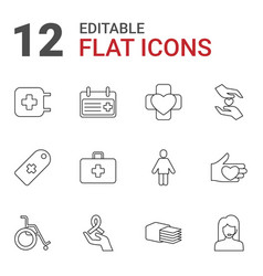 12 help icons vector