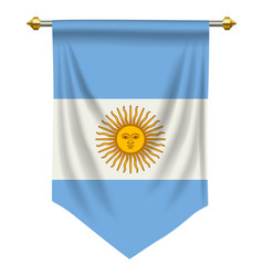 argentina pennant vector image