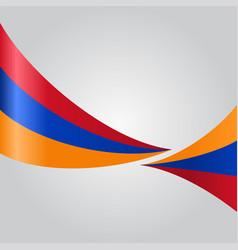 Armenian wavy flag vector