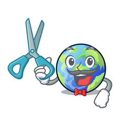 Barber earth in the shape on character vector
