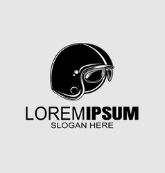 Bikers helmet logo design template vector