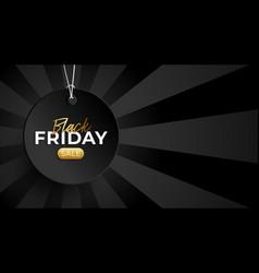 black friday sale circle price tag horizontal vector image