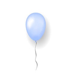 Blue balloon 3d thread isolated white background vector