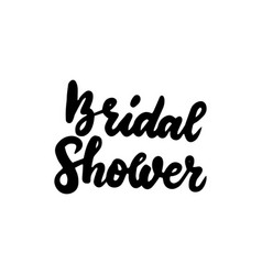 Bridal shower handwritten lettering vector
