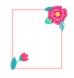 Bright postcard with flowers vector