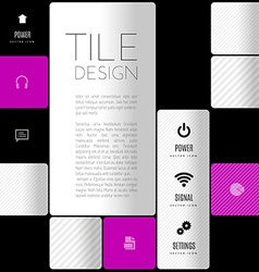 Business tile design design elements for flyers vector image