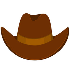 Colorful cartoon cowboy hat vector