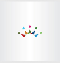 colorful crown icon symbol element vector image