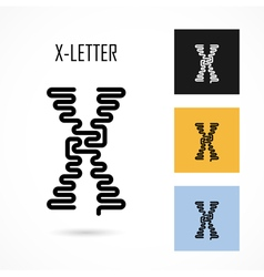 Creative x - letter icon abstract logo design vector