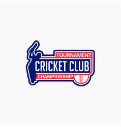 Cricket club badge logo-7 vector