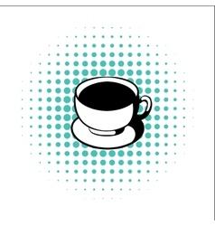 cup coffee comics icon vector image