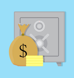 deposit safe box vector image
