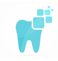 Digital dental logo or icon vector