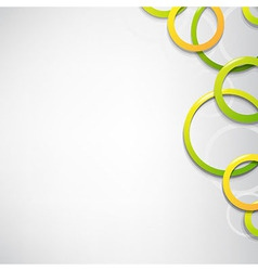 Dynamic Background With Circles vector image