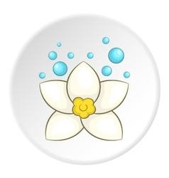 Flower icon cartoon style vector