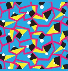 Geometric memphis style modern seamless pattern vector