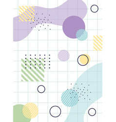 geommetric memphis 80s 90s style abstract grid vector image