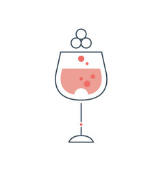 Glass goblet of red wine concept of alcoholic vector