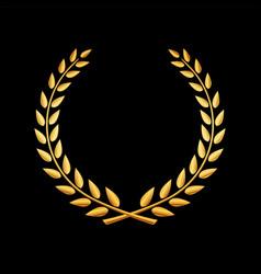 Gold award laurel wreath vector