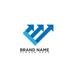 Grow up logo design template vector