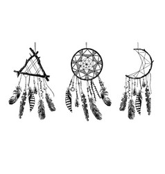 hand drawn dream catchers vector image