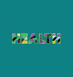 Health concept word art vector
