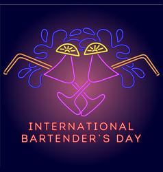 International bartender day vector