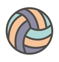 Isolated ball of volleyball design vector