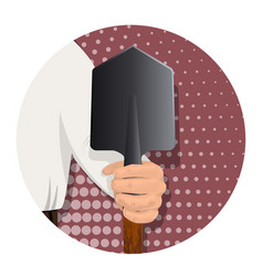 item in the man s hand-11 vector image