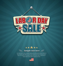 Labor day sale American signs vector image vector image