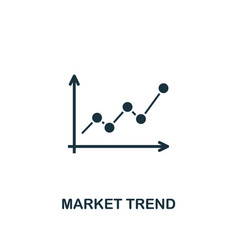 market trend icon creative element design from vector image