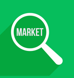 market word magnifying glass vector image