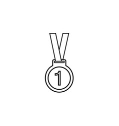 medal line icon sport and champion element vector image