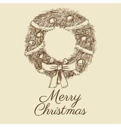 Merry christmas sketch design vector