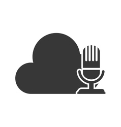 Microphone and cloud data storage vector
