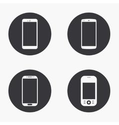 modern smartphone icons set vector image