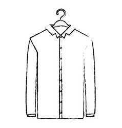 monochrome blurred silhouette of shirt long sleeve vector image