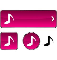 Music button set vector