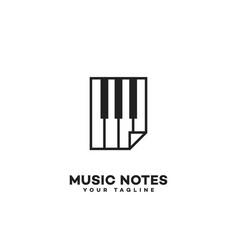 Music notes logo vector