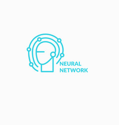 Neural networks conceptual sign and logo the vector