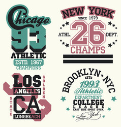 New york t-shirt graphics vector