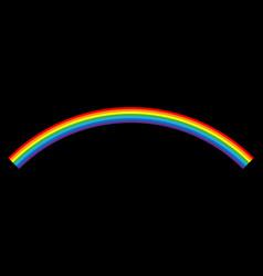 rainbow icon cartoon isolated black background vector image