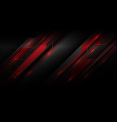 Red metallic light cyber polygon slash on dark vector