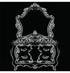 Rich Baroque furniture set vector
