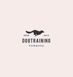 running jumping dog logo silhouette k9 training vector image