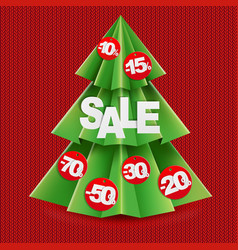 sale poster with fir vector image