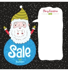 Santa Claus and Christmas sale badge vector image