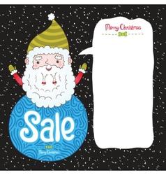 Santa claus and christmas sale badge vector