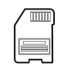 Sd memory card icon image vector